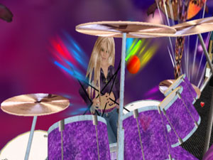 Cat Gisel on Drums
