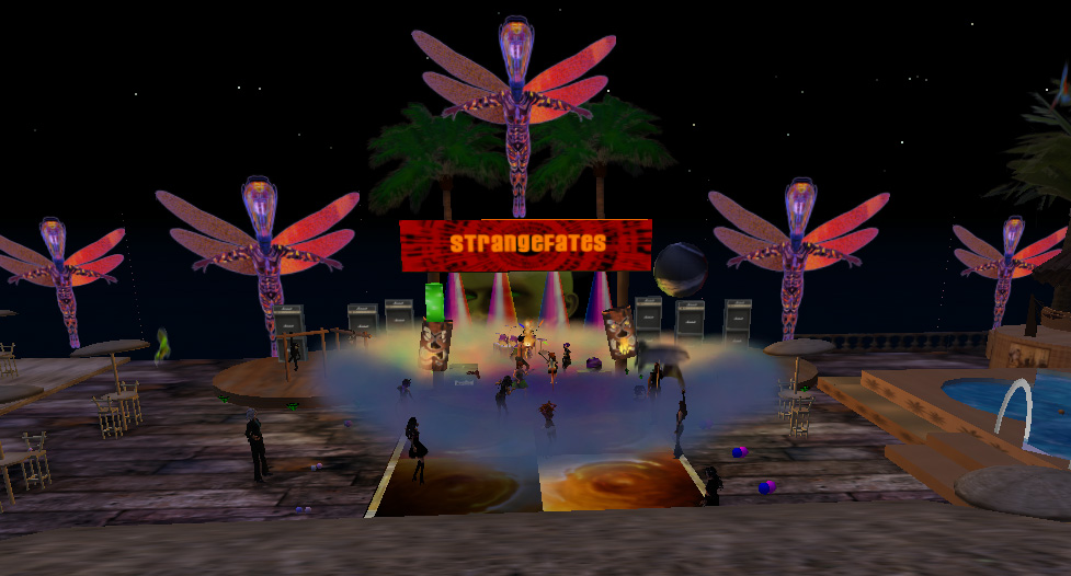 Strangefates Live at Monkey island In Secondlife
